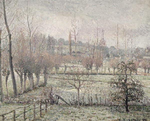 Fine Art Print  Snow Effect at Eragny, 1894