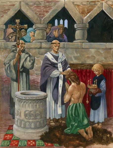 Fine Art Print  St Augustine baptising King Ethelbert