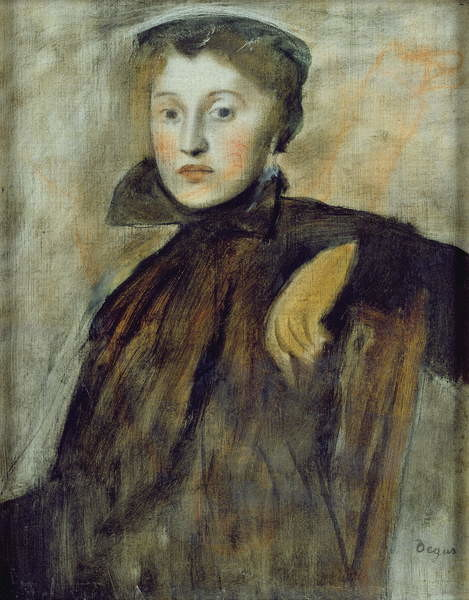 Study for a Portrait of a Lady, 1867 (oil on canvas) Canvas Print