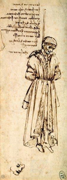 Fine Art Print Study of the Hanged Bernardo di Bandino Baroncelli, assassin of Giuliano de Medici, 1479