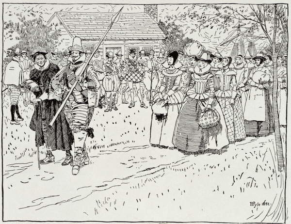 Fine Art Print  The Arrival of the Young Women at Jamestown, 1621, from Harper's Magazine, 1883