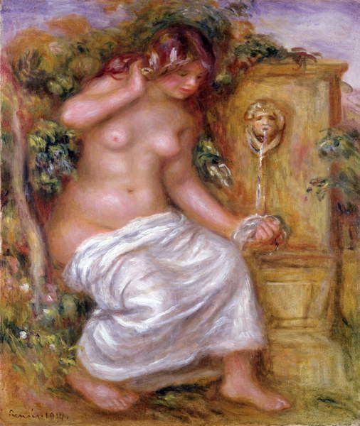 The Bather at the Fountain, 1914 Canvas Print