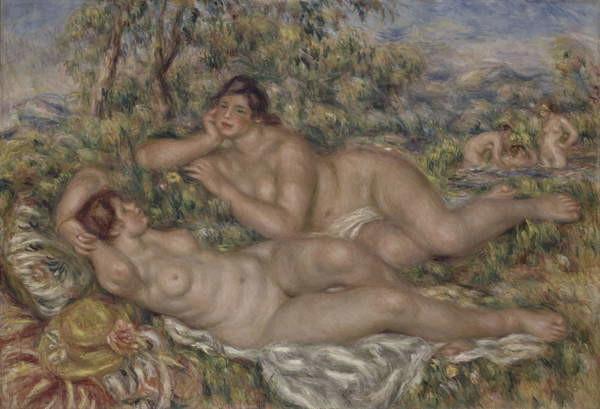 The Bathers, c.1918-19 Canvas Print