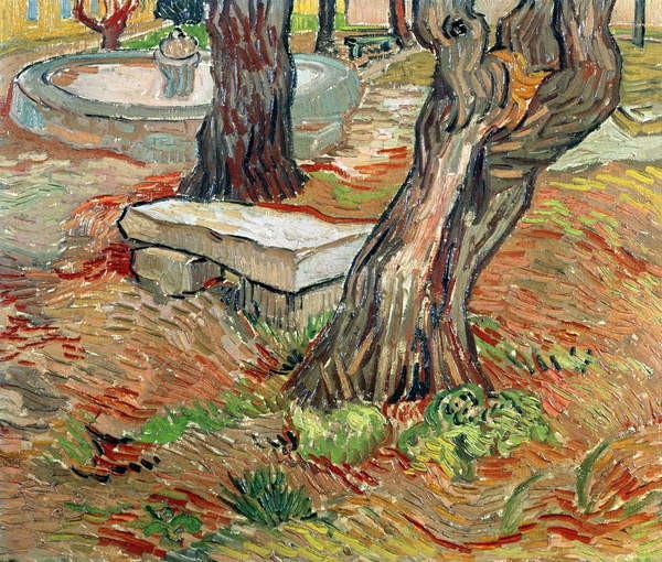 Fine Art Print The Bench at Saint-Remy, 1889