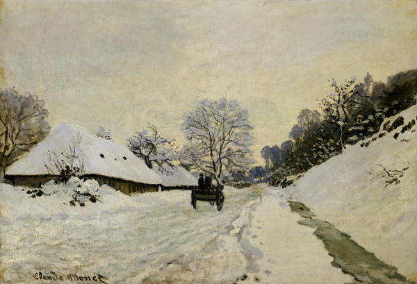 Fine Art Print The Cart, or Road under Snow at Honfleur, 1865