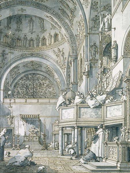 Fine Art Print  The Choir Singing in St. Mark's Basilica, Venice, 1766