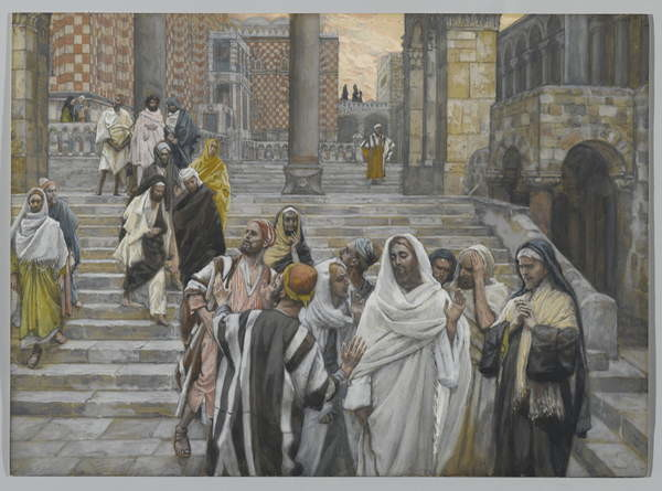 Fine Art Print The Disciples Admire the Buildings of the Temple, illustration from 'The Life of Our Lord Jesus Christ', 1886-94
