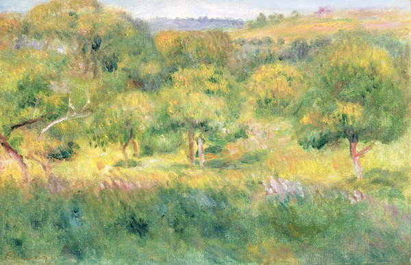 The edge of a forest in Brittany, 1893 Canvas Print