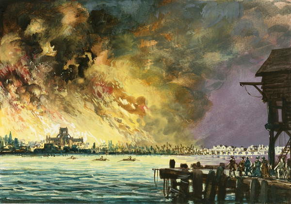 Fine Art Print  The great fire of London