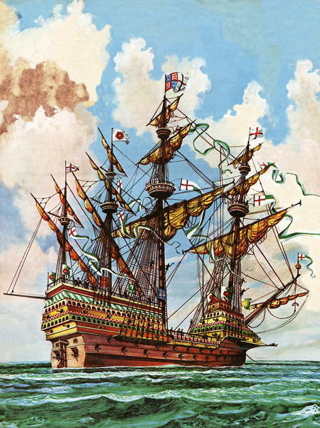 Fine Art Print The Great Harry, flagship of King Henry VIII's fleet
