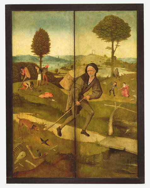 Fine Art Print The Haywain, with panels closed showing Everyman walking the Path of Life