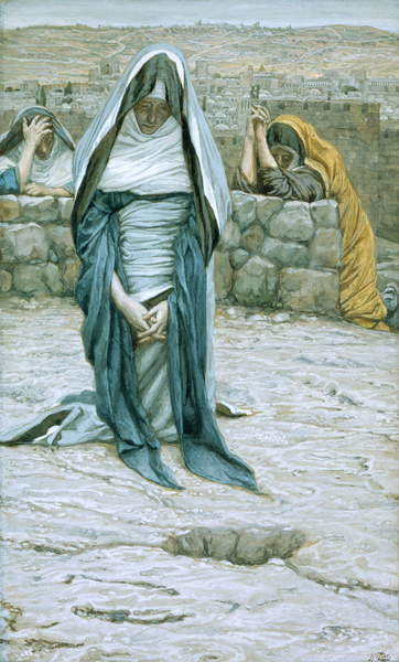 Fine Art Print The Holy Virgin in Old Age, illustration for 'The Life of Christ', c.1884-96