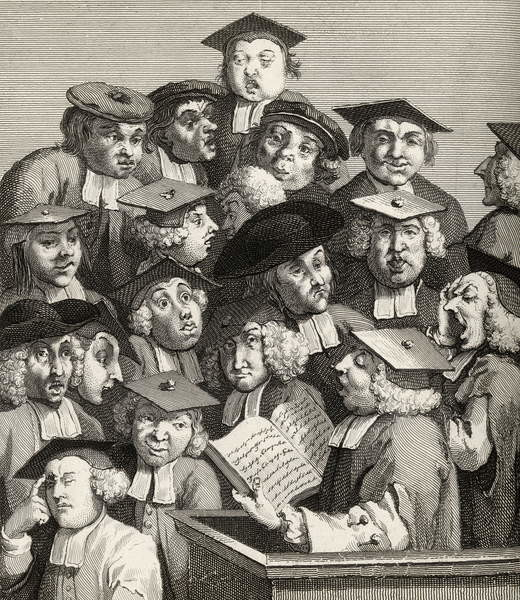 Fine Art Print The Lecture, from 'The Works of William Hogarth', published 1833