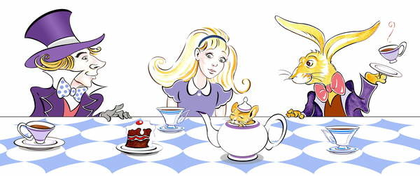 Fine Art Print The Mad Hatter's Tea Party - illustration to  Lewis Carroll 's 'Alice's Adventures in Wonderland' , 2005