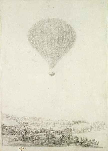 Fine Art Print The Montgolfier Brothers, c.1800-08