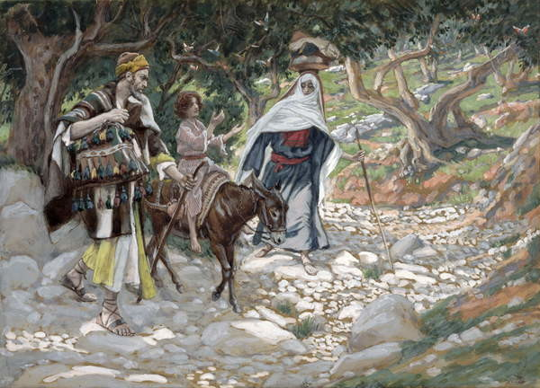 The Return from Egypt, illustration for 'The Life of Christ', c.1886-94 Canvas Print