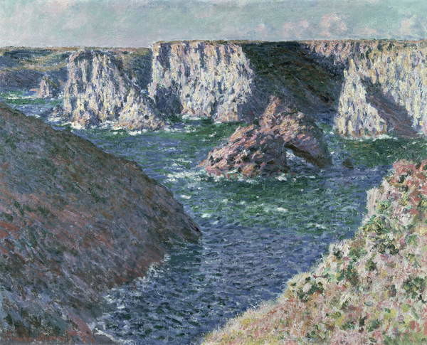 The Rocks of Belle Ile, 1886 Canvas Print