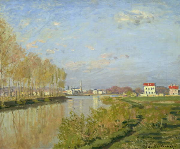 The Seine at Argenteuil, 1873 Canvas Print