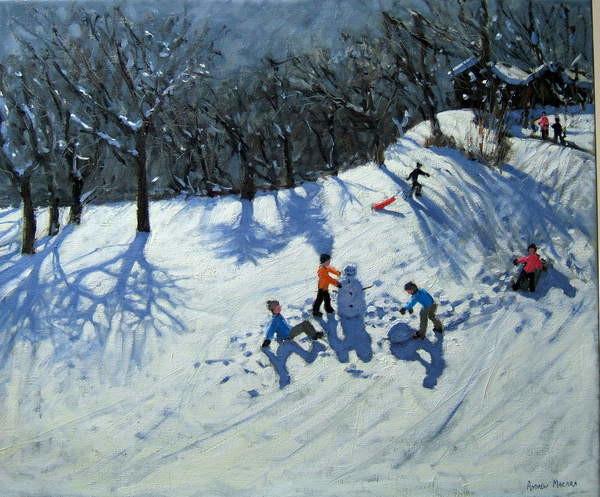 Fine Art Print The Snowman,Morzine,