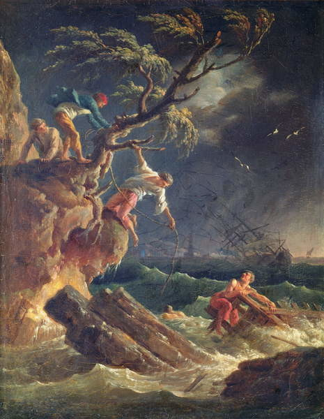 The Tempest, c.1762 Canvas Print