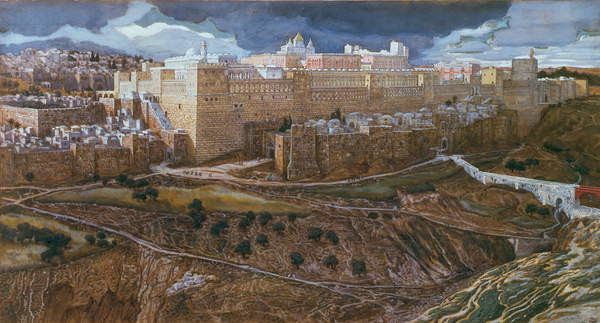Fine Art Print  The Temple of Herod in our Lord's Time, c.1886-96 (gouache on paperboard)