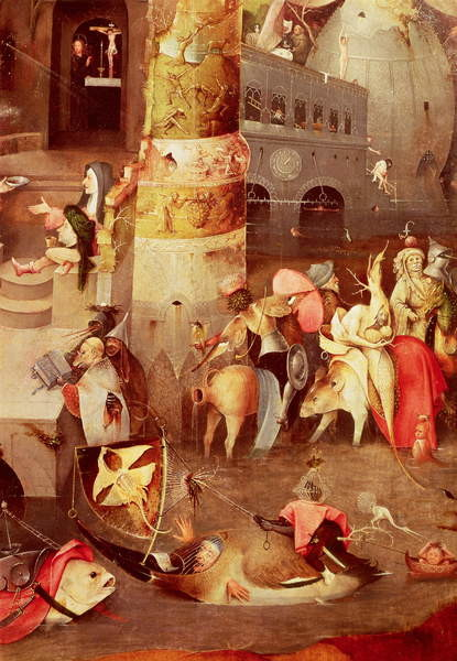 Fine Art Print Triptych of the Temptation of St. Anthony, detail of the lower right hand side