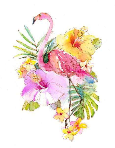 Fine Art Print Tropical collage, 2017