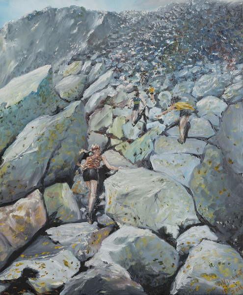 Fine Art Print  Uphill Fell race, 2013,