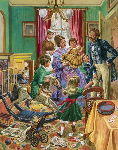 Fine Art Print  Victorian nursery