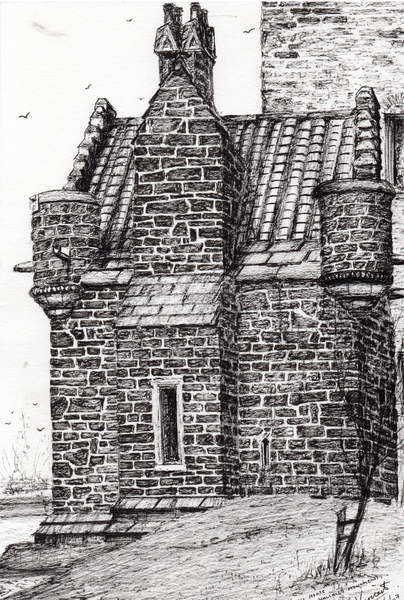 Fine Art Print  Wallace monument the small house, 2007,