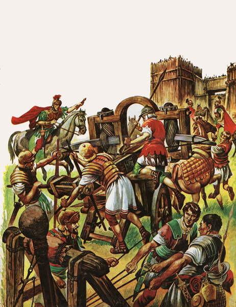 Fine Art Print  When the Britons Fought against the Roman Armies