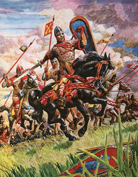 Fine Art Print  William the Conqueror at the battle of Hastings