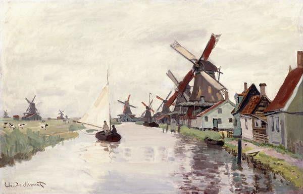 Fine Art Print Windmill in Holland, 1871