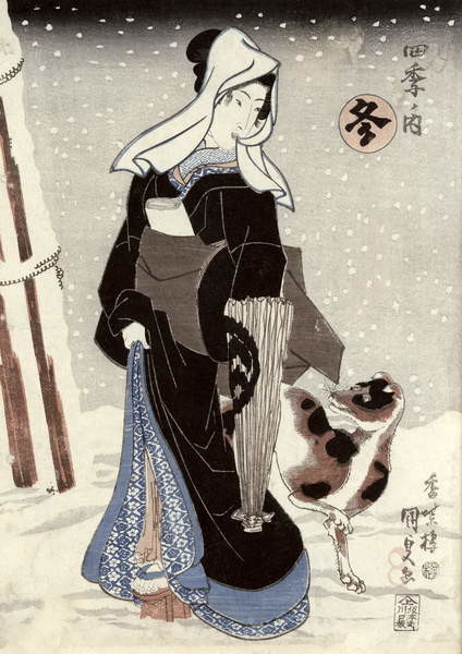 Fine Art Print  Winter, from the series 'Shiki no uchi' (The Four Seasons)