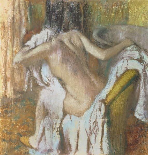 Fine Art Print Woman drying herself, c.1888-92