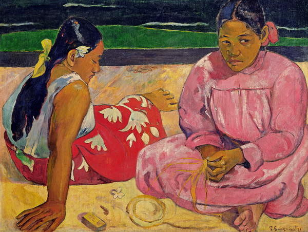 Women of Tahiti, On the Beach, 1891 Canvas Print
