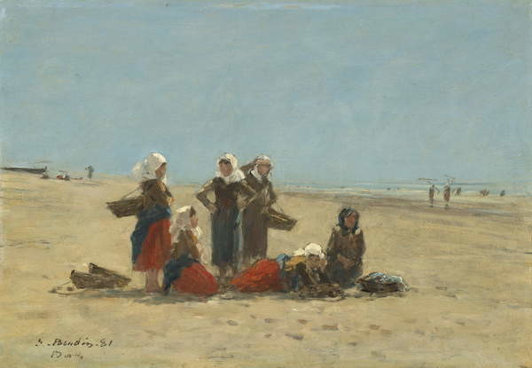 Fine Art Print  Women on the Beach at Berck, 1881