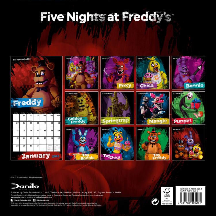 Five Nights At Freddys 2021 Calendar Wallpaper