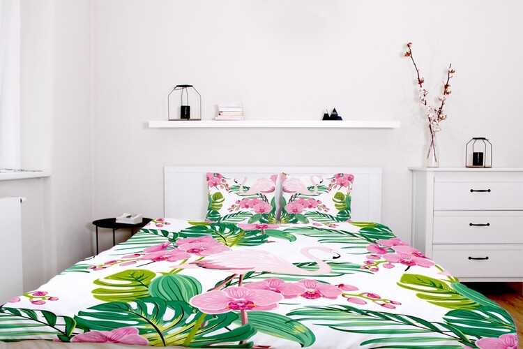 Bed sheets Flamingos Favorite orchid