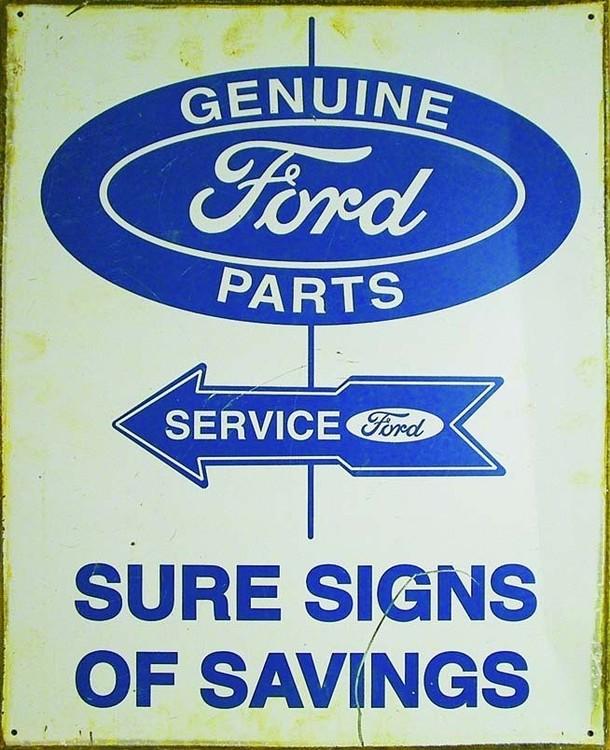 FORD PARTS AND SERVICE Plaque métal décorée