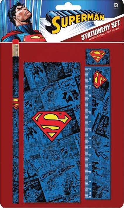 Dc comics stationery set superman logo fournitures de for Acheter fournitures de bureau