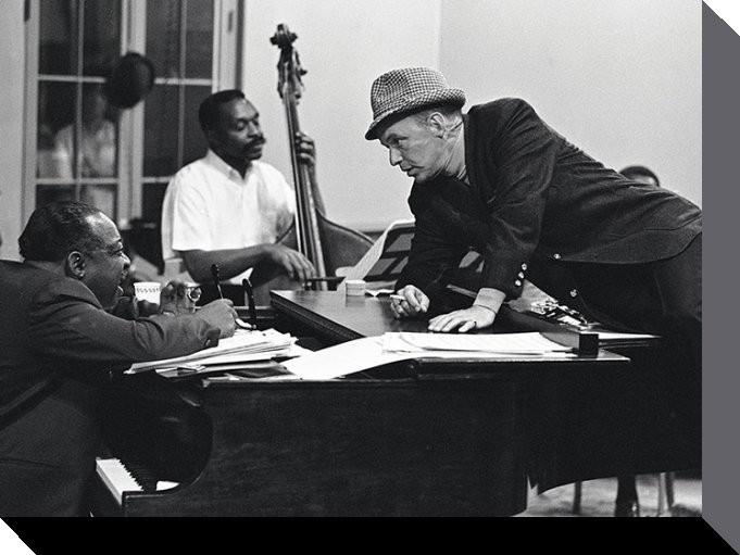 Frank Sinatra - piano Canvas Print