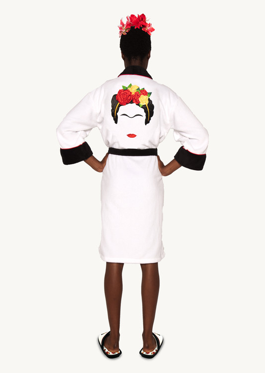 Bathrobe Frida Kahlo - Minimalist Hoodless