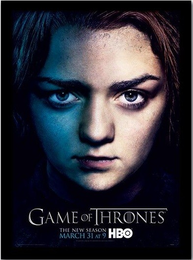 GAME OF THRONES 3 - arya Poster encadré en verre