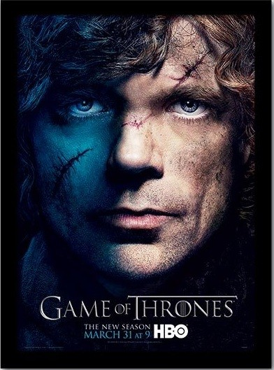 GAME OF THRONES 3 - tyrion Poster encadré en verre
