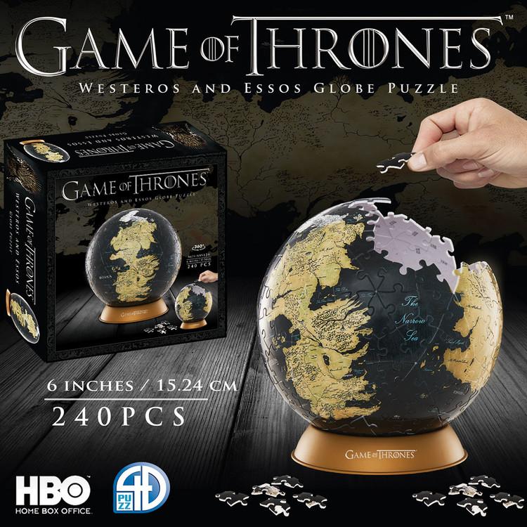 Puzzle Game of Thrones - 4D Globe