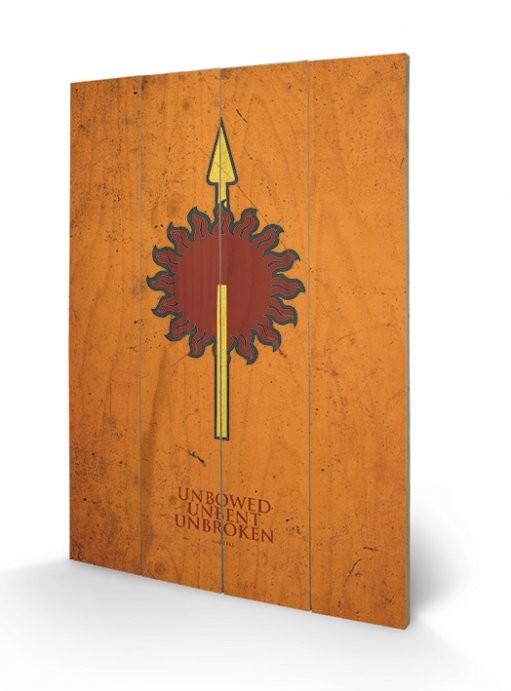 Game of Thrones - Martell Panneaux en Bois
