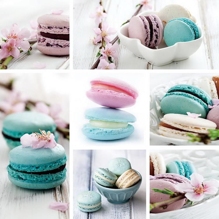 Glass Art Macaron - Blue Art
