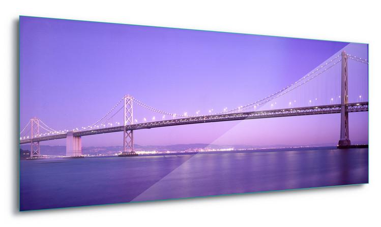 Glass Art  Purple Bridge