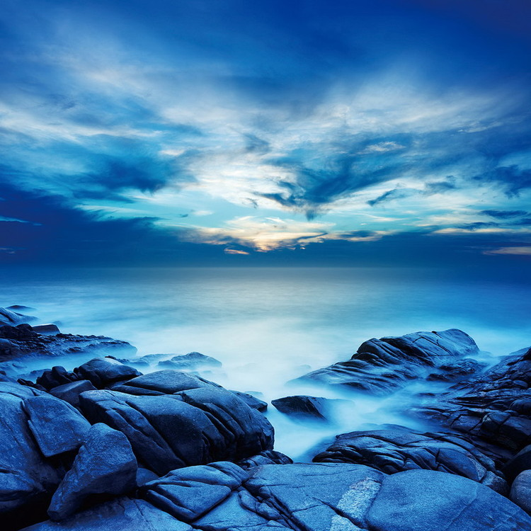 Glass Art Sea - Blue Bay